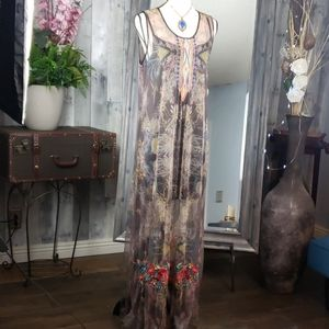 Nwt Johnny Was embroidered Mesh dress size Large